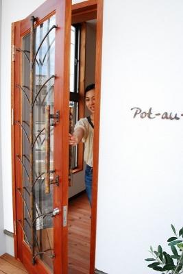 銅製ドアハンドル