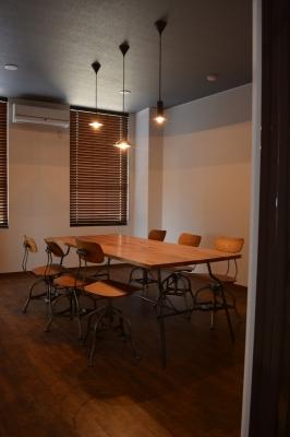 ダイニングテーブル 特注 滋賀 デザイン照明