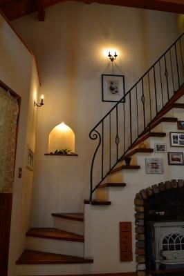 階段 可愛い照明