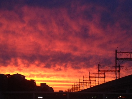 the sunset divine 夕焼け空♪