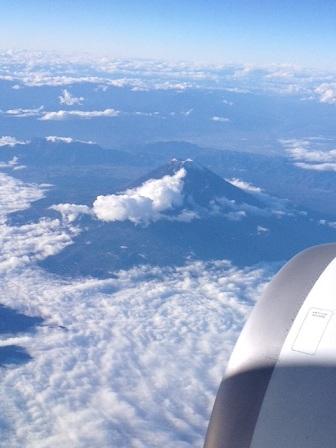 フライトよりの富士山♪