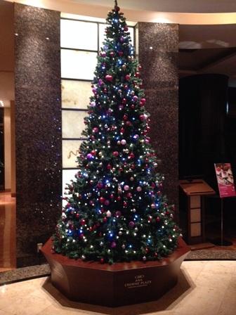 ANAクラウンプラザ那覇 沖縄のクリスマスツリー♪