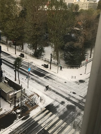 初雪は札幌にて♪