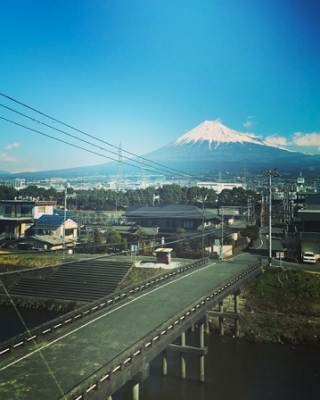 新幹線からの富士山♪