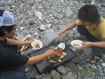 川井キャンプ場BBQ