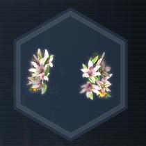 百合花飾:濃縮染料
