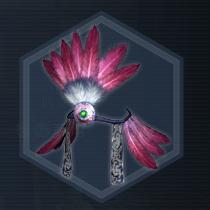 闘鷲羽冠:濃縮染料