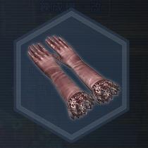 絹手套:粉末染料