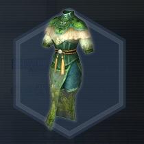 緑翠薫風衣:染色前