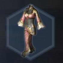 天仙麗媛衣:染色前