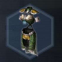 黒革軽甲:粉末染料