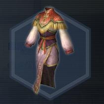 宮廷女官衣:染色前