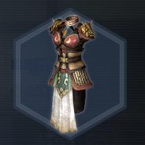 姫将紅焔甲:染色前