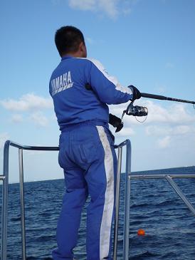 男の一本釣り