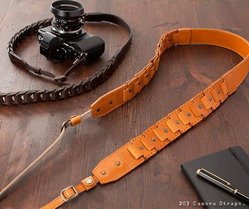 レザーリンク/レザーチェーンカメラストラップ