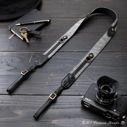 カメラストラップ -  Wリング・ブラック・NW