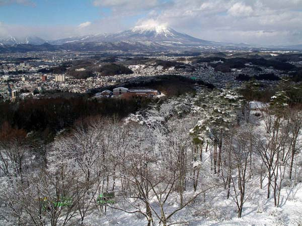 盛岡雪景色