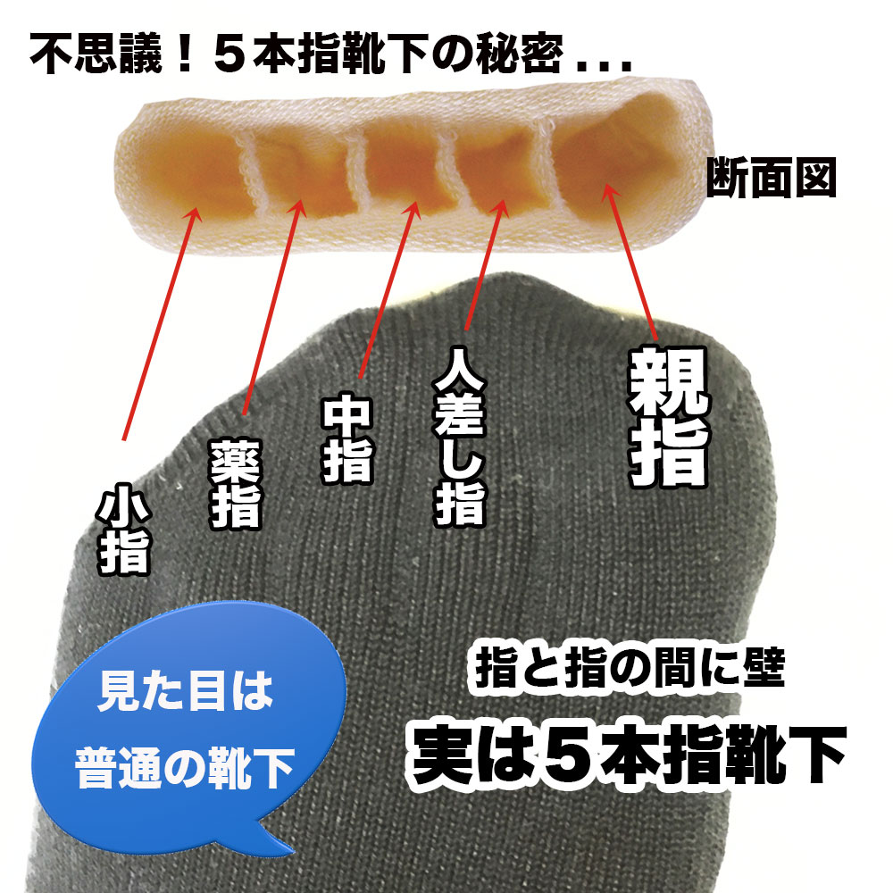 不思議な靴下5本指(ビジネス)