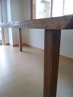 タモ一枚板ダイニングテーブル2