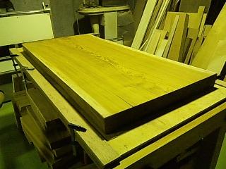 ケヤキ座卓天板削り直し 後