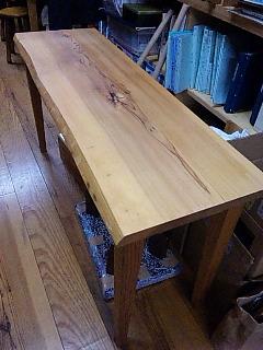 杉カウンターテーブル