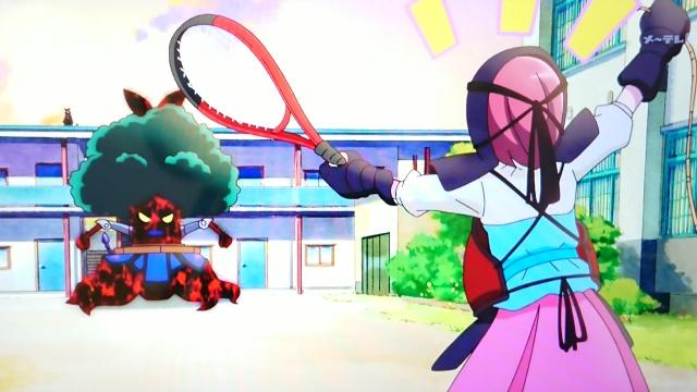 剣道の装備でメガビョーゲンに挑むのどか