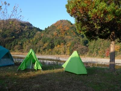 大子町やなせキャンプ場テント