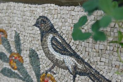 鳥のモザイク アクイレイア