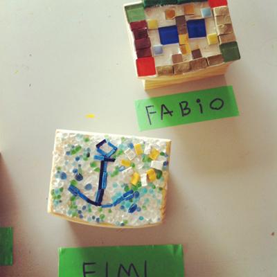 エイミとファビオ モザイク