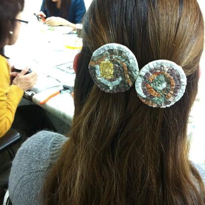 モザイク 髪飾り アクセサリー