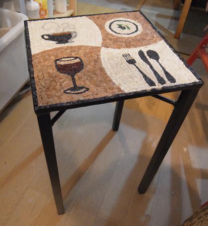 モザイク テーブル