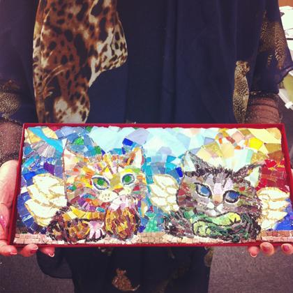 現代モザイク 猫