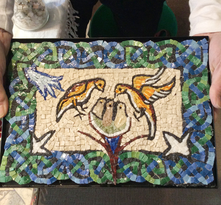 鳥モザイク