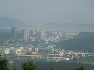 203高地から見た旅順の街