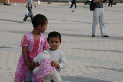 カシュガルのモスク広場?