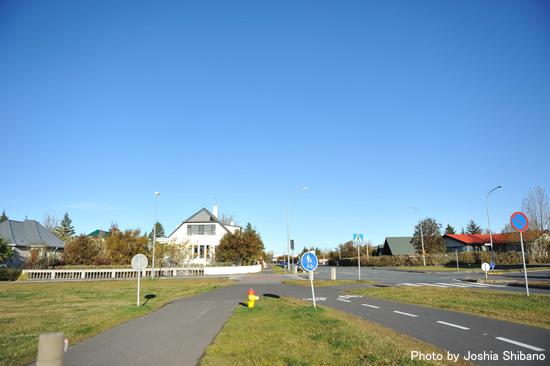 天候が良い日は気持ち良い秋のレイキャヴィク