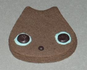ネコ形のクッキー