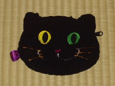 ハロウィーン猫ポーチ