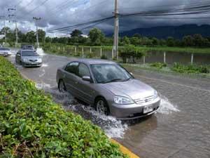 道路は冠水