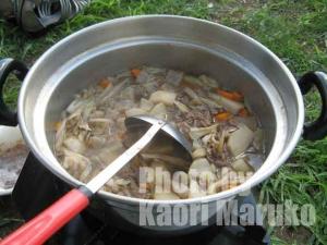 芋煮 しょう油 牛肉