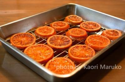 ブラッドオレンジのオレンジコンフィ