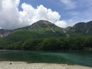 「大正池から焼岳」