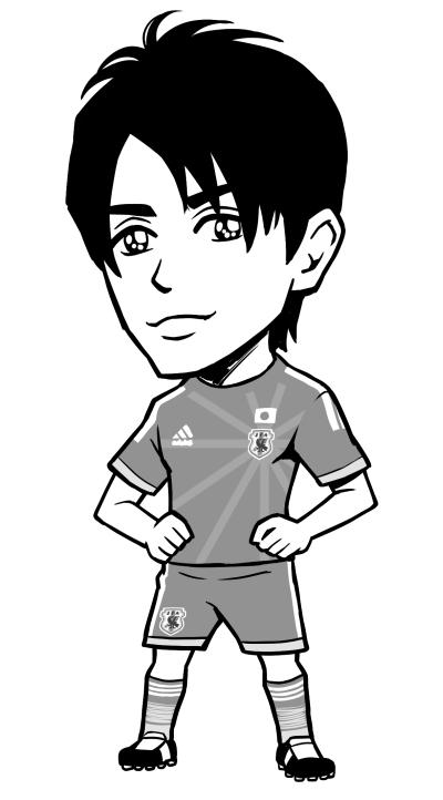 nicola (ニコラ) 2014年07月号サッカー選手カットイラスト