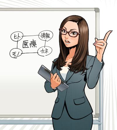 MBA流ケースメソッドで学ぶ 医療経営入門イラストレーター平戸三平01