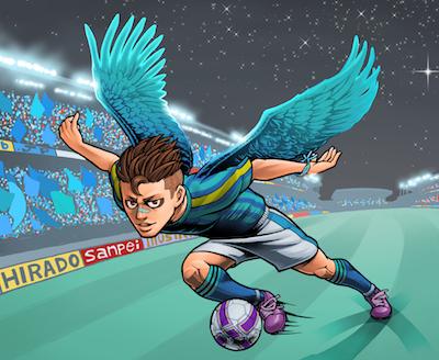 サッカー選手ポジションウイングイラストレーションイラストレーター平戸三平