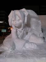 雪ミク雪像
