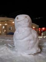 味のある雪だるさん