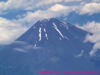 飛行機から見えた富士山。