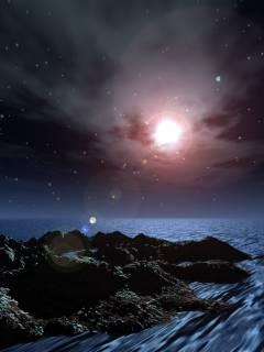 遠景夜海。