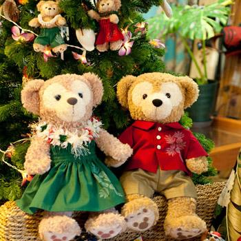 ダッフィー&シェリーメイ クリスマス用コスチューム レイとパウスカートの2点/アロハセット